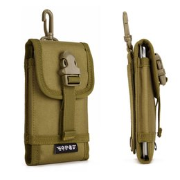 iphone tactical UK - Protector Plus Universal Tactical Pouch for 5.8 inch Mobile Phone Hook Cover Molle Pouch Phone Case for Iphone 6 6s 6 plus