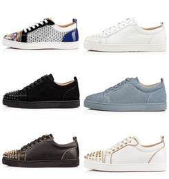 Tanned bags online shopping - Designer Sneakers Red Bottom Low Cut Spikes Flats Shoes For Men Women Leather Sneakers Casual Shoes With Dust Bag Party Wedding Sneaker