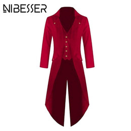 Fashion Blazers Australia - Nibesser Blazers Solid Color Buttons Jackets Male Tuxedo Suit Wedding Suit Fashion Slim Punk Style Casual Dress Party Plus Size Y190420