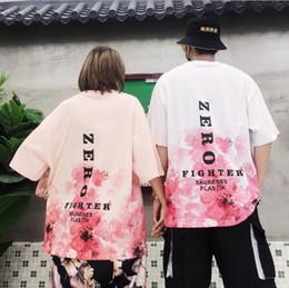 $enCountryForm.capitalKeyWord Australia - Couples National Trends Flowers Cherry Blossom Pink Short Sleeve Men's T-Shirt Women's Half Sleeve Hip hop Ins Super Fire Top