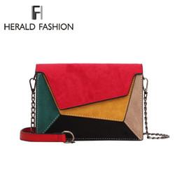 $enCountryForm.capitalKeyWord Australia - Herald Fashion Quality Leather Patchwork Women Messenger Bag Female Chain Strap Shoulder Bag Small Criss-cross Ladies' Flap Bag Y19061705
