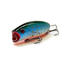 fishing bait spoons UK - Fishing Lure 5.5cm 10g Hard Plastic Popper Wobblers Lure Artificial Fishing Top Water Floating Bait Swimbait