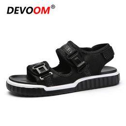 5b5f2ce8b914a Fashion Beach Shoes for Man Summer Men Sandals for Ocean Beach Walking  Sandalia Masculina Quality Top PU Outsole Black Color