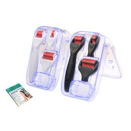 $enCountryForm.capitalKeyWord Australia - Hot Sale 4 in 1 Dermaroller Stainless Steel Micro Needles Derma Roller with 3 Head(1200+720+300 Needles) Derma Roller Kit for Acne Removal
