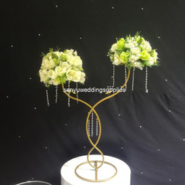 tall flower stands for centerpieces Australia - Wedding Decoration Flower Metal Tall Gold Display Stands for Church Centerpieces senyu0442