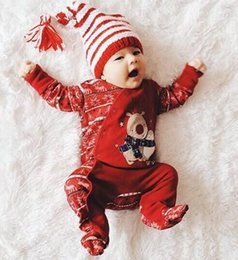 baby boy rompers christmas Australia - Christmas Clothes Newborn Infant Baby Rompers Boys Girls Deer Romper Jumpsuit 2020 Winter Xmas Party Romper Outfits Clothes