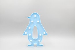 $enCountryForm.capitalKeyWord NZ - Cute Penguin LED Night Light Wall Lamp Battery Operated Luminaria Desk Lamp For Kids Gift Party Home Room Decorations 2019