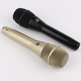wholesale toy-quality ksm9 Dynamic cardioid vocal Microphone! Professional karaoke handheld Microphone for Live Stage Performance show Mike on Sale