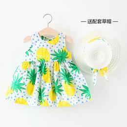 $enCountryForm.capitalKeyWord NZ - Girls tutu dresses skirt kids garments 2019 summer new girls dress infant baby summer fruit series print frocks with straw hatkids clothing
