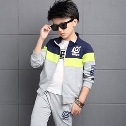 $enCountryForm.capitalKeyWord NZ - Baby Boy Autumn Clothes Set For Toddler Kids Clothing Cartoon Printed Long Sleeve Coat + Long Pants Boy Suit 4 6 8 10 12 Years J190511