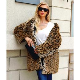 d8e07f68b96e Leopard Print Fur Jacket Australia - MISS M New Luxury Faux Fur Coat  Leopard Print Winter