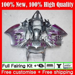 Vfr 98 Australia - Body For HONDA Interceptor VFR800R Pink flames VFR800RR 98 99 00 01 68MT5 VFR800 VFR 800RR VFR800 RR 1998 1999 2000 2001 Fairing Bodywork