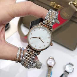Wholesale pricing models for sale – oversize Fashion New model Wholesales price Woman nice watches Stainless Steel women watch Bracelet rose gold Luxury Wristwatch Top quality shelldial
