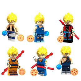 Großhandel Dragon Ball Mini Figuren Blöcke Cartoon Sammlung Spielzeug Für Kinder Bausteine Kinder Blöcke Spielzeug Geschenk RRA1699