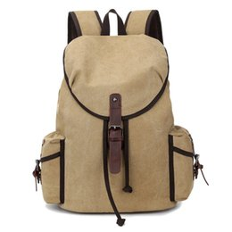 American Backpacks Australia - American Style Zipper & Hasp & String Closing Backpack Man Women Canvas Backpack Leisure Travel Bag 1327
