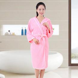 $enCountryForm.capitalKeyWord Australia - Home textile coral velvet towel ladies robes bathroom can wear towel dress female beach spa magic pajamas sleep