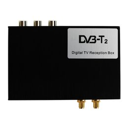 hd tv tuner box Australia - Hotaudio High Speed HD Car TV Tuner Mobile DVB-T T2 MPEG-4 Digital TV Receiver Box Dual Antennas for Russia European