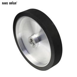 300*50mm Solid Belt Grinder Contact Wheel Dynamically Balanced Rubber Polishing Wheel Abrasive Sanding Belt Set on Sale