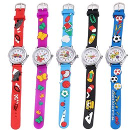 girl children models NZ - 17 Models fashion cartoon animal kids children soft rubber sport quartz watches wholesale boys girls students birthday cheap gift watches