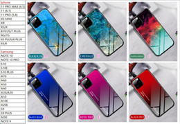 Wholesale tempered glass for xiaomi note resale online - Tempered Glass Hard Case For Redmi a Note Pro Note Xiaomi CC9 CC9E K20 SE Marble TPU Gradient Dual Hybrid Luxury Phone Skin Cover