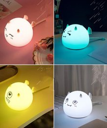 mini bedside lamps Australia - New LED night light Mini cartoon devil silicone patted sensory atmosphere bedroom bedside table lamp