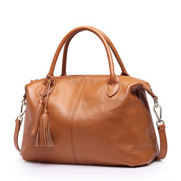 Ladies Genuine Leather Bags Australia - 2019 New Genuine Leather Bags For Women Real Leather Handbags Ladies Shoulder Bag Cowhide Crossbody Bags For Women
