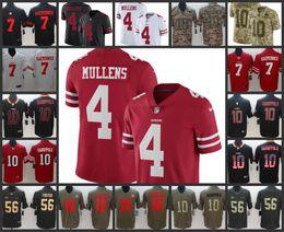 San Francisco Mens 49ers Jersey  4 Nick Mullens 10 Jimmy Garoppolo 16 Joe  Montana 56 Reuben Foster Women Youth Limited Football Jerseys a223a2f99