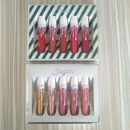$enCountryForm.capitalKeyWord UK - Quality Top Brand Lipsticks Gloss Sets Sugar Spice 5 Colors Matte Velvet Liquid Beauty Sexy Lipstick Makeup Lips StickDHL Free Shipping