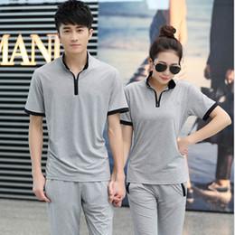 Linen running shorts online shopping - Run Tourism Bodybuilding Leisure Time Short Sleeve T Shirt Ventilation Lovers Dress Twinset Men And Women Motion School Uniform