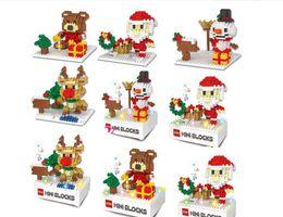 Santa Claus Figures Australia - especial Christmas Building Blocks 3D Assembly Santa Claus snowman deer bear ABS Plastic Miniature Action Figures box package For Kids toys
