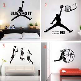 basketball bedroom Australia - Playing Basketball Wall Stickers Waterproof Self-adhesive PVC Wallpapers Can Be Removable Arts Murals Boy Bedroom Decor Free Shipping