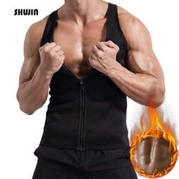 Shaper Shirts NZ - SHUJIN 2019 Summer Men's Workout Trainer Vest Sweat Sauna Waist Trainer Body Shaper Fitness Male Athletic Gym Tank Tops Shirt