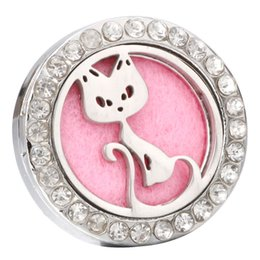 $enCountryForm.capitalKeyWord Australia - New Aromatherapy Cat Snap Buttons Perfume Locket Magnetic Stainless Steel Essential Oil Diffuser 18mm Snap Button Bracelet