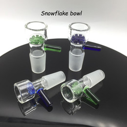 $enCountryForm.capitalKeyWord NZ - Latest Sale 14mm 18mm Two Colors Male Joints Glass Bowls With Round Snowflake Glass Bowl For Herb Tobacco Glass Bongs Water Pipes