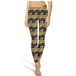 $enCountryForm.capitalKeyWord UK - GA Tech Yellow Jackets football stripe black Yoga Pants High Waist Yoga Pants Womens Gym Yoga Pants Elastic Fitness Tights Capri Leggings