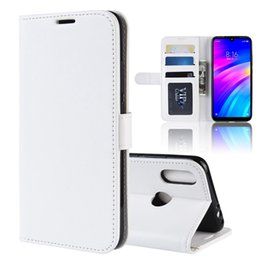 Xperia Flip Case White Australia - Retro R64 Grain Crazy Horse Leather Wallet Flip Case For Redmi 7 NOKIA 4.2 Sony Xperia L3 Oneplus 7 Photo Frame Cards Slot Stand Cover 1pcs