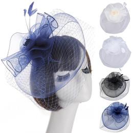 Hat Veils Netting Australia - New Arrival Bridal Net Lace Hats Elegant Flower Shape Hair Clip Hat Veil Bridal Face Veils Wedding Bride Hats