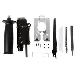 $enCountryForm.capitalKeyWord UK - Reciprocating Electric Drill Attachment With Saw Blade Set Wood Metal Cutting Woodworking Tool Kit Accessories