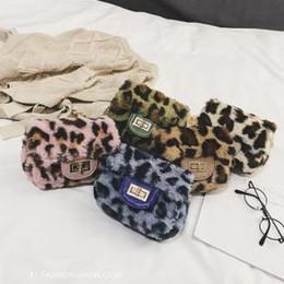 Metal wall hangings online shopping - Leopard Shoulder Bag Fashion Winter Leopard Fluffy plush Handbags Metal Chain Crossbody Bags for Women girl Storage Bags GGA1499