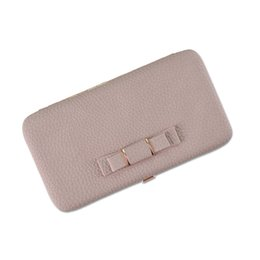 $enCountryForm.capitalKeyWord UK - Women's Wallet Japan and Korean Style Long PU Leather Clutch HandBag Large Capacity Bow Mobile Phone Purse Bag for Gift Party