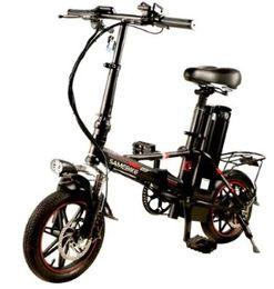 Toptan satış Samebike 20ZANCHE 250 W 10Ah Pil Akıllı Katlanır Elektrikli Bisiklet - SIYAH