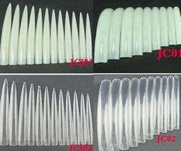$enCountryForm.capitalKeyWord Australia - 10pcs Pack Of Half Mat Bridal Porcelain White Tip Nail Art Salon Supplies Kit Nail Polish Chip Extra Long False Nails