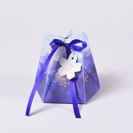 Wholesale Boxes Packaging UK - 200pcs Marbling style Candy Boxes Wedding Favors and Gifts Box Party Supplies Baby Shower Paper Chocolate Boxes Package