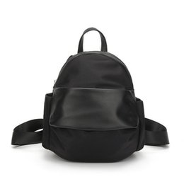 Nice New Waterproof Oxford Female Backpack With Pu Leather Small Backpack  For School Korean Style Women s Little Bagpack 7ee200bde8d66