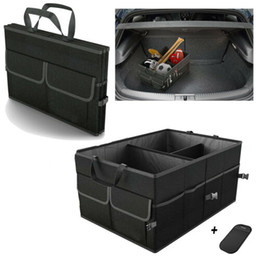 Chinese  Trunk Cargo Organizer Folding Caddy Storage Collapse Boxes Bin for Car Truck SUV manufacturers