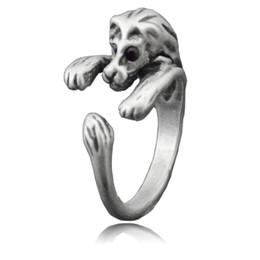$enCountryForm.capitalKeyWord Australia - Boho Chic Vintage Silver Brass Knuckles Adjustable Lion Animal Wrap Boho Mid Finger Ring Big Rings for Women