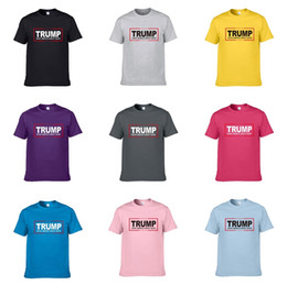 Wholesale trump shirts for sale – custom 2020 Summer New Brand Designer Mens Designer Trump T Shirts Many Small Bees Embroidery Casual Short Sleeve Trump T Shirts Casual Tee Shirts C