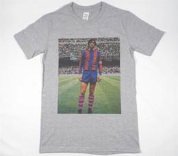 Venta al por mayor de Johan Cruyff camiseta gris talla S-XXXL Barcelona Ajax Holanda Maradona Pele