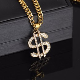 AmericAn dollAr coins online shopping - US Dollar Money Pendant Necklaces Luxury Gold Color Long Chain Necklace Men Women Accessories Necklace Shellhard Hip Hop Jewelry