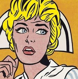 pop canvas prints Canada - Roy Lichtenstein Nurse High Quality HandPainted &HD Print Pop Art Portrait Wall Art Oil Painting On Canvas Home Decor Multi Sizes Ry27
